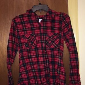 Red Long Sleeve Flannel